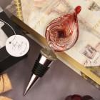 Red Teardrop Design Arte Murano Bottle Stopper