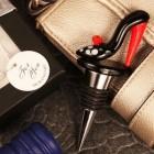 Bold in Black Arte Murano Shoe Bottle Stopper