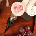 Pink Rose Circle Shaped Arte Murano Bottle Stopper