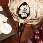 White Lily Design Arte Murano Bottle Stopper Favor Keepsake Gift