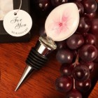 Pink Rose Oval Shaped Arte Murano Bottle Stopper