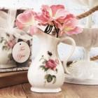 Porcelain Rose Vase Favor