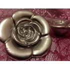 Rose Floating Candles 6 Ct Silver