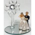 Bride and Groom Wedding Favor Cake Top Glass Decoration Choose Amount
