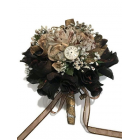 "Steampunk Wedding Bridal Flower Rose Bouquet Gift Idea 10"" H"