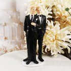 Gay Grooms Wedding Couple Cake Topper