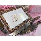 Leopard Print Guest Book and Cake Server Knives