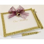Wedding Guest Book and Pen with Lace Design Gift