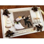 Western Runaway Cowboy Wedding Anniversary Themed Guest Book and Pen