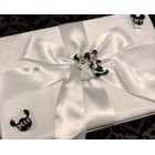 Wedding Mickey and Minnie Classic White Satin Signature Guest Book
