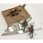 Western Theme Burlap Guest Book With Pen For Wedding Anniversary Sweet 16 Birthday