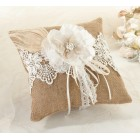Wedding Burlap and Lace Ring Pillow Gift Party Supplies
