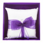 Mis Quince Purple Ribbon Tiara Pillow